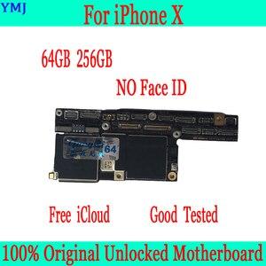 Image 2 - 100% Originele Ontgrendeld Voor Iphone X Moederbord Zonder Gezicht Id/Met Gezicht Id Moederbord 64 Gb 256 Gb Voor iphone X Logic Boards