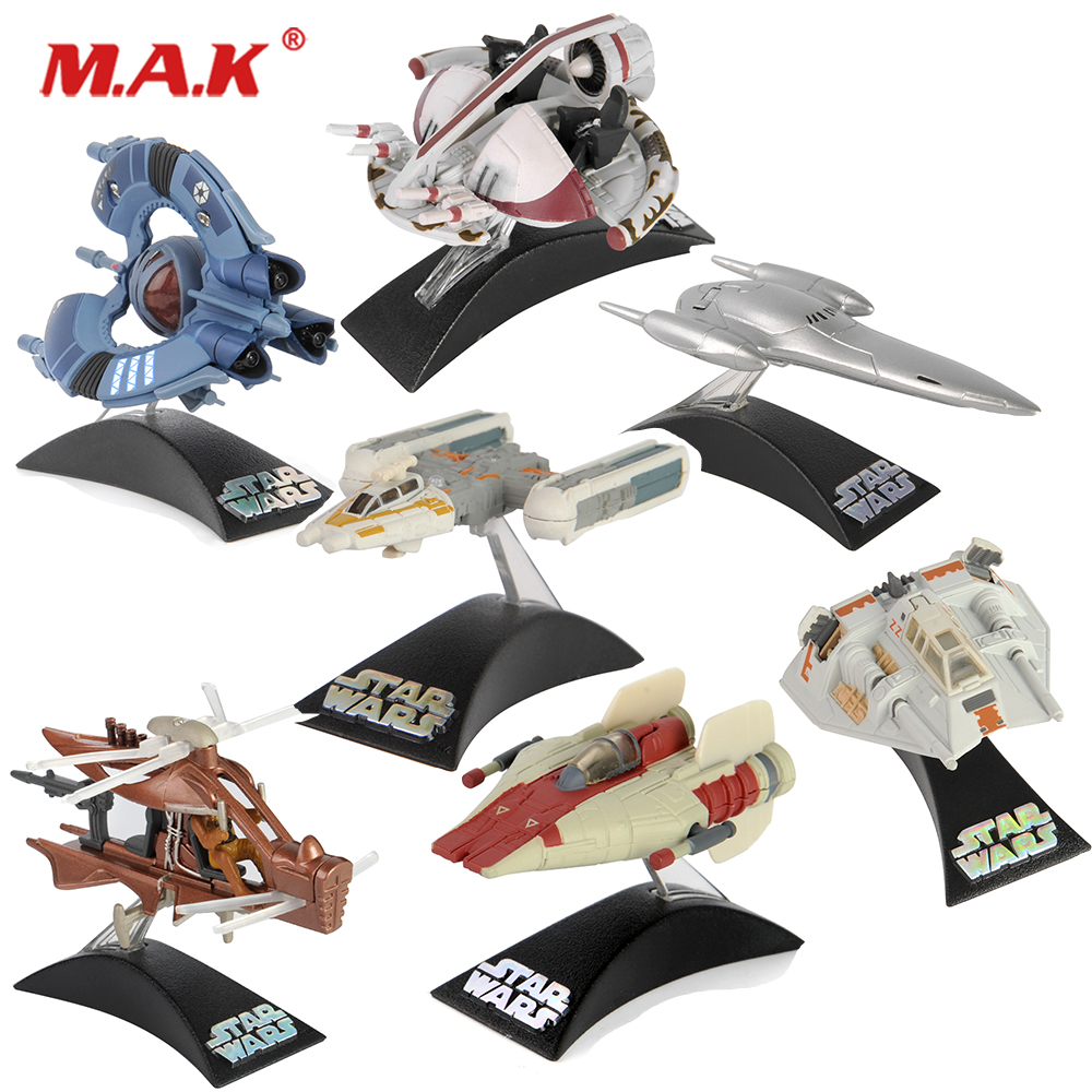 mini STAR WARS TITANIUM Alloy Spaceship model male toy ornaments Star Wars fighters Force for Collection boy gift image