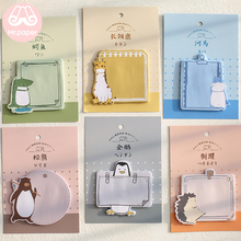 Notepad Kawaii Stationery Memo-Pad Sticky-Notes School-Supplies Mr.paper Self-Adhesive