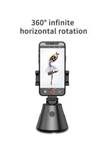 Image 2 - 360 derece telefon tutucu standı otomatik yüz nesne izleme akıllı çekim kamera Selfie sopa rotasyon YouTube canlı akışı Vlog