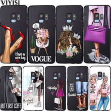 Fashion Baby Mom Girl Queen Vogue Phone Case For Samsung Galaxy S10 case S8 S6 S7 S9 J2 J3 J5 J7 J4 J6 J8 2018 Plus Etui Cover