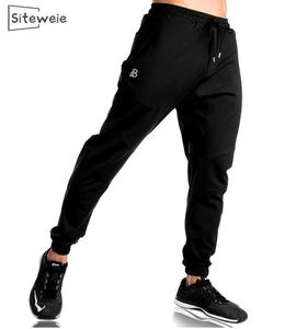 SITEWEIE New Autumn Men's Sports Pants Stretch Slim Pants Fitness Gym Cotton Sport Sweatpants Cotton Joggres Full Length L250