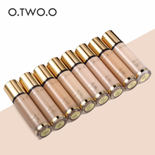 O.TWO.O 8 Colors Gold Liquid Foundation Oil Control Whitening Concealer Moisturizer Full Coverage Face Makeup Base Cream 9983