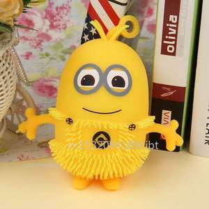 Little yellow man toys squeeze toy fun squishies funny gadgets