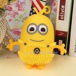 Маленький желтый человек, игрушки, сжимаемые игрушки, забавные сжимаемые гаджеты