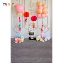 Yeele 1st Birthday Photography Background Balloons Paper Flowers Lantern Photo Backdrop For Baby Child Kid Party Decor Photozone
