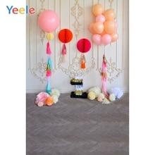 Yeele 1st Birthday Photography Background Balloons Paper Flowers Lantern Photo Backdrop For Baby Child Kid Party Decor Photozone