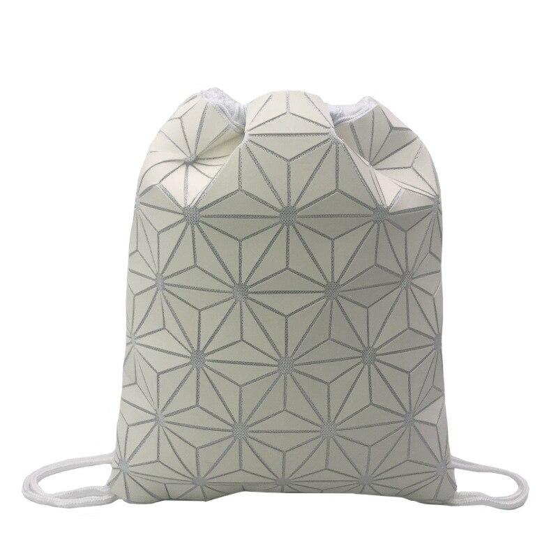 New Style Geometric Backpack  Drawstring Storage Bag Luminous Mens And Womens Shoulder Backp