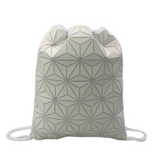 New Style Geometric Backpack  Drawstring Storage Bag Luminous Mens And Womens Shoulder Backp