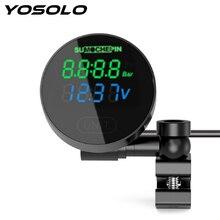 YOSOLO Electric Detector LCD Digital Display Motorcycle TPMS Tire Pressure Monitor System External Sensors Tire Pressure Gauge