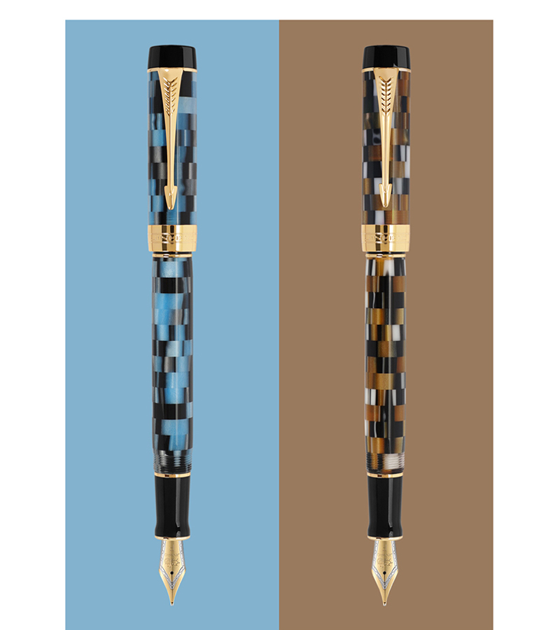 Jinhao 100 Exquisite Centennial Resin Fountain Pen Checkerboard EF/F/M/Bent Nib Ink Pen With Converter For Best Stationery
