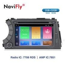 Navifly 2din HD 1024X600 Android 9,1 2G RAM 32ROM DVD del coche para Ssang Yong SsangYong Kyron Actyon navegación estéreo GPS 2005-2013