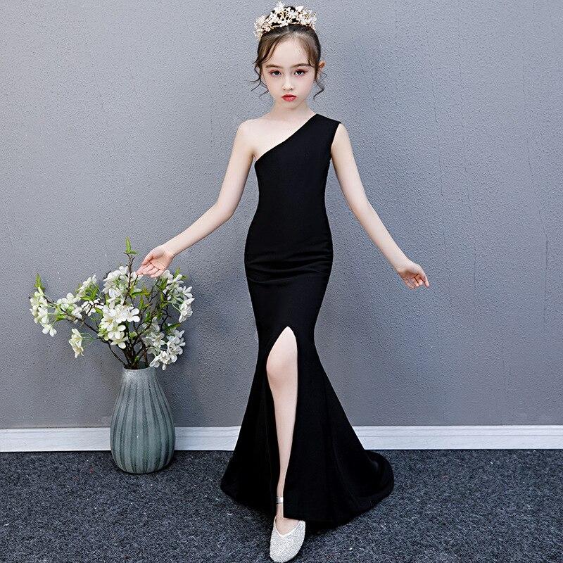CHILDREN'S Dress Piano Performance Host Nobility Late Formal Dress Girls Catwalks Performance Western Style Princess Skirt Autum