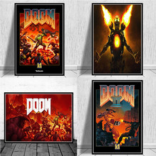 Halo Video Games The Ultimate Doom Classic Canvas Painting Posters and Prints Wall Art Picture for Living Room Decor Cuadros