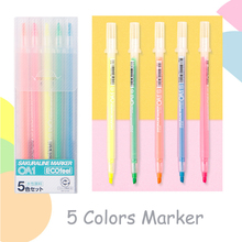 Buy 5 Colors Japanese Sakura Marker Highlighter Creative Dual Headed DIY Manga Painting Graffiti Brush Art Stationery Supplies directly from merchant!