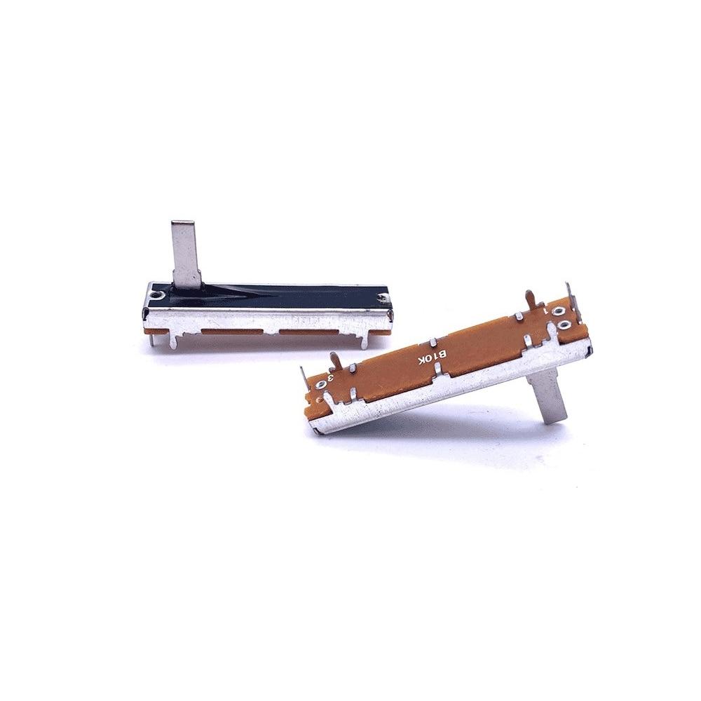 Taidacent 10Pcs 30MM Travel 4.5 Cm Small Slide Potentiometer B10K Straight Sliding 10K Volume Potentiometer Single Potentiometer