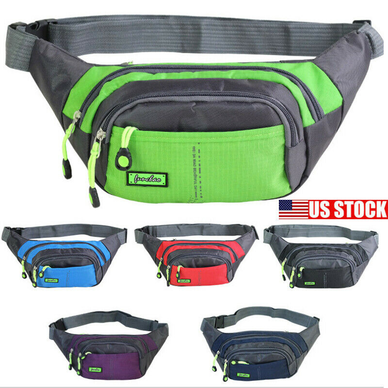 2019 Unisex Waist Packs Men Women Waist Bag Fanny Pack Hip Camping Money Pouch Belt Sport Chest Travel Bum Shoulder Bags