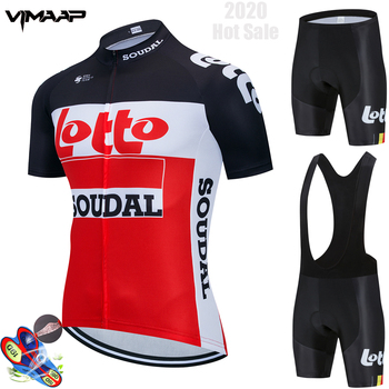 Cycling Jersey 2020 Summer Lotto Pro Team cycle Bike Clothing 9D Bib Shorts Set Men MTB Ropa Ciclismo hombre Bicycle Clothes