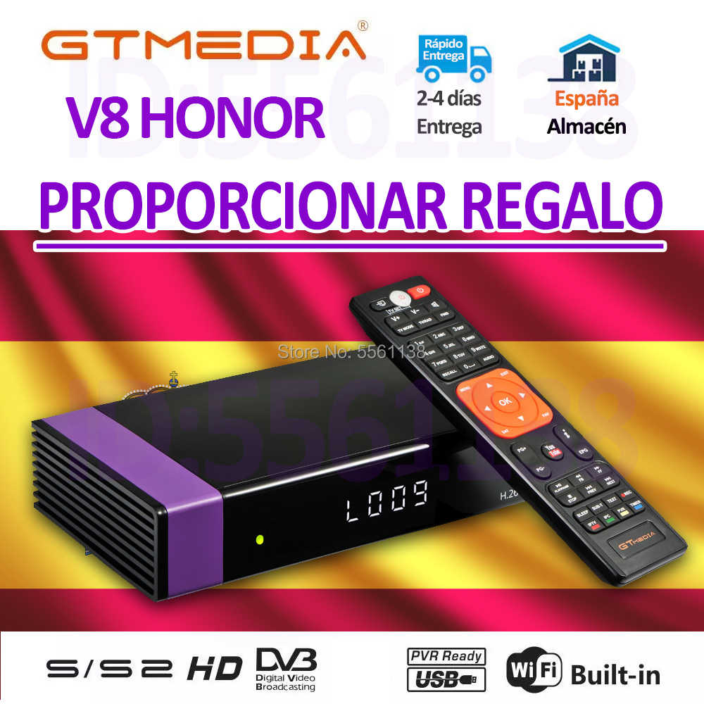 1080P DVB-S2 GTMEDIA V8 HONOR Recepter costruito in wifi H.265 GT media v8 nova freesat v9 super nessun app incluso