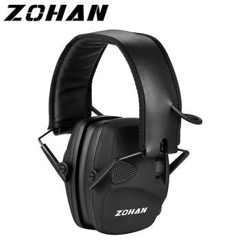 ZOHAN elektroniczne strzelanie ochrona słuchu wzmocnienie dźwięku nauszniki przeciwhałasowe profesjonalne ochraniacze na uszy polowanie Outdoor Sport tanie i dobre opinie EM026 Electronic earmuff ABS Ear cup Nylon headband 11*9 5*20cm(4 33*3 74*7 87in) 11*9 5*12cm(4 33*3 74*4 72in) 2 AAA With 3 5mm input jack Can listen MP3 or Radio