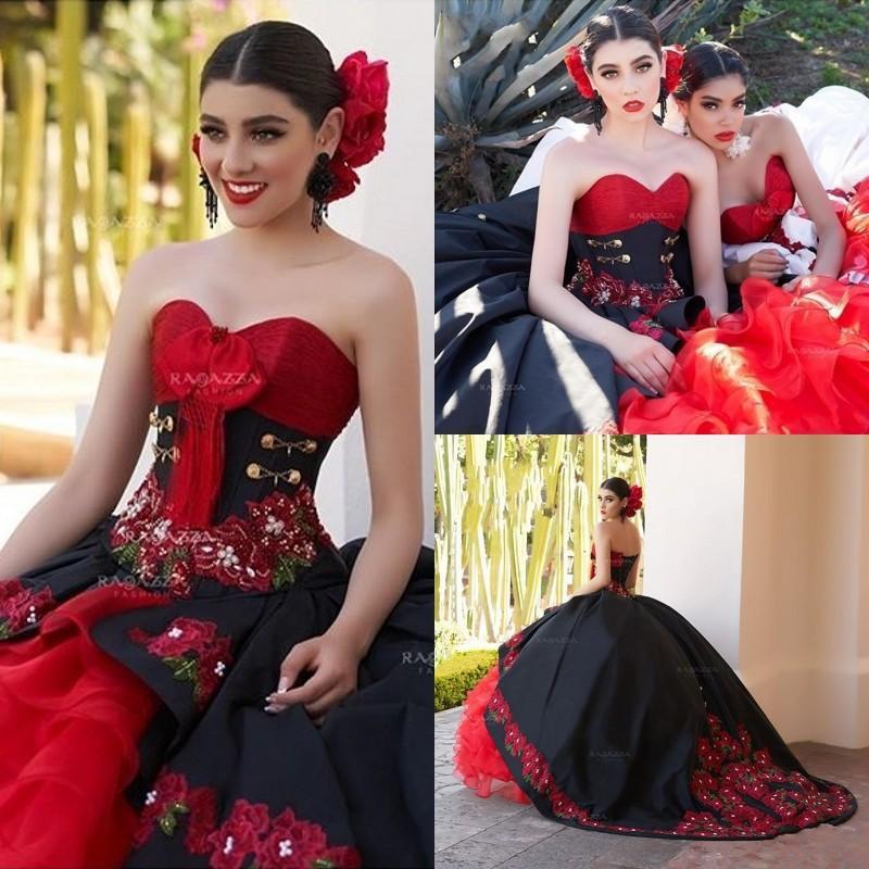Black Ball Gown Quinceanera Dresses 2020 Off Shoulder Ruffles Sweet 16 Dresses Vestidos De Quinceaneras Custom Made