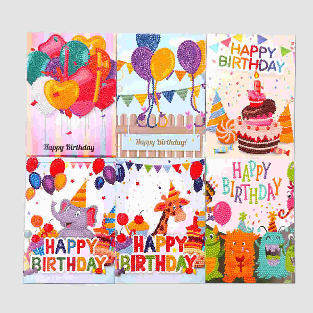 5D DIY картина Рождественская открытка День благодарения Алмазная вышивка на день рождения бумага DIY открытка с днем рождения мультфильм Ремесло детей