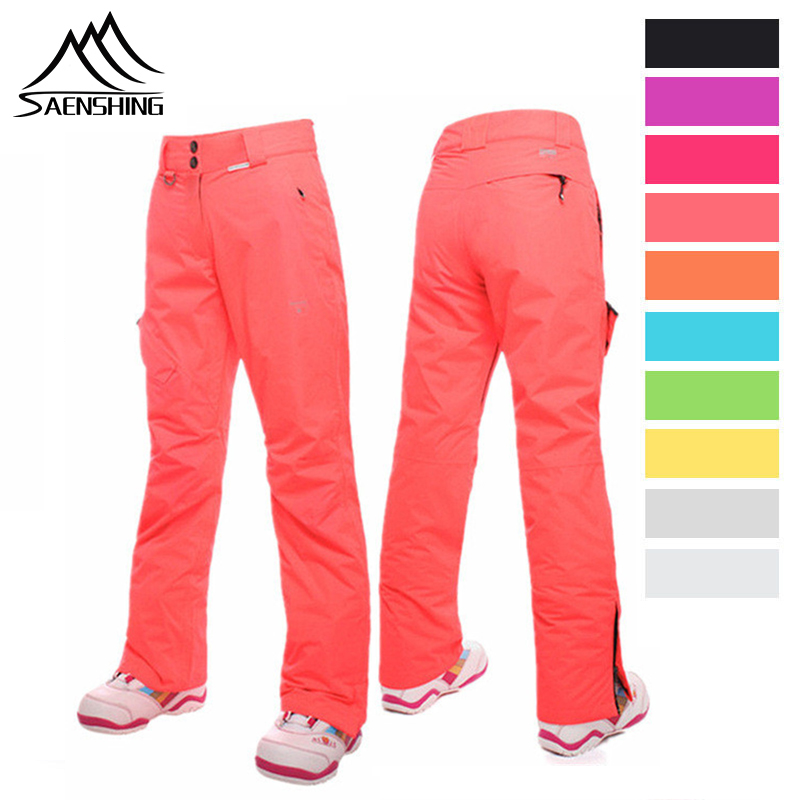 SAENSHING Winter Women Ski Pant Snow Pants Waterproof Ski Trousers Women Winter High Quality Snowboard Strapless Pants