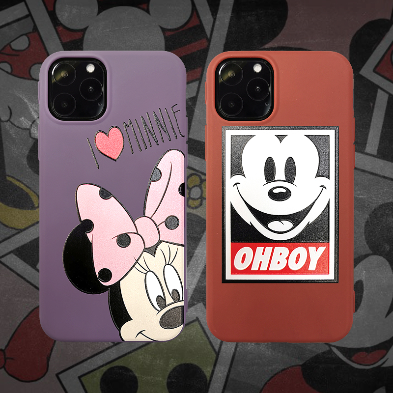 mouse ears trend Cute Protect Soft TPU Case For iPhone6S 8 7 6Plus Matte Back <font><b>Coque</b></font> For <font><b>iPhone</b></font> 11 Pro X XS Max XR Cartoon Case image