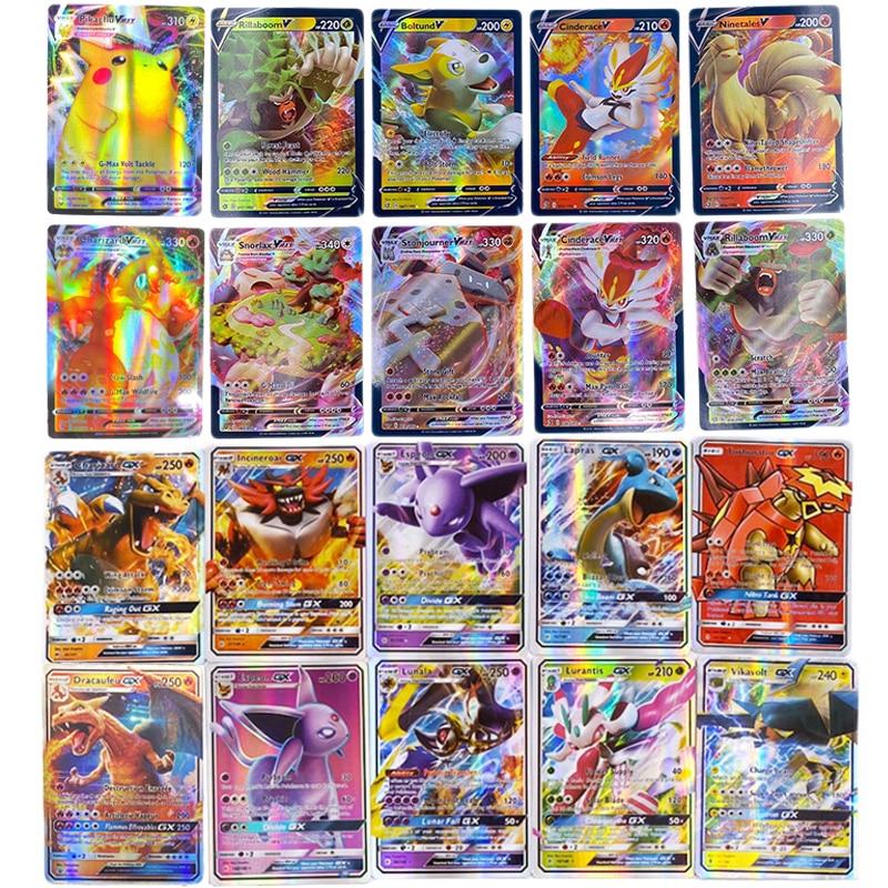 Pokemons GX Card Shining TAKARA TOMY Cards Game TAG TEAM VMAX GX V MAX Battle Carte Trading Children Toy