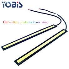 1PIECE COB 17cm Universal Daytime Running Light DRL day line light led daytime running lights ultra-thin waterproof