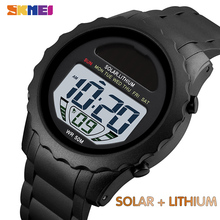 SKMEI Fashion Mens Watches Solar Supply Digital Watch Waterproof Stopwatch Chrono Digital Wristwatches For Male Student Montre cheap Polyester CN(Origin) 24cm 5Bar SPORT Buckle ROUND 20mm 12mm Resin Stop Watch Back Light Shock Resistant luminous Chronograph