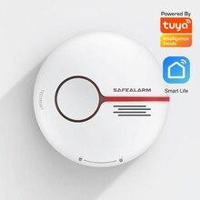 Vida Inteligente Standalone TUYA APP WIFI detector de fumaça de alarme de Incêndio sensor de uso de segurança Em Casa sem fio alarme de fumaça de cigarro