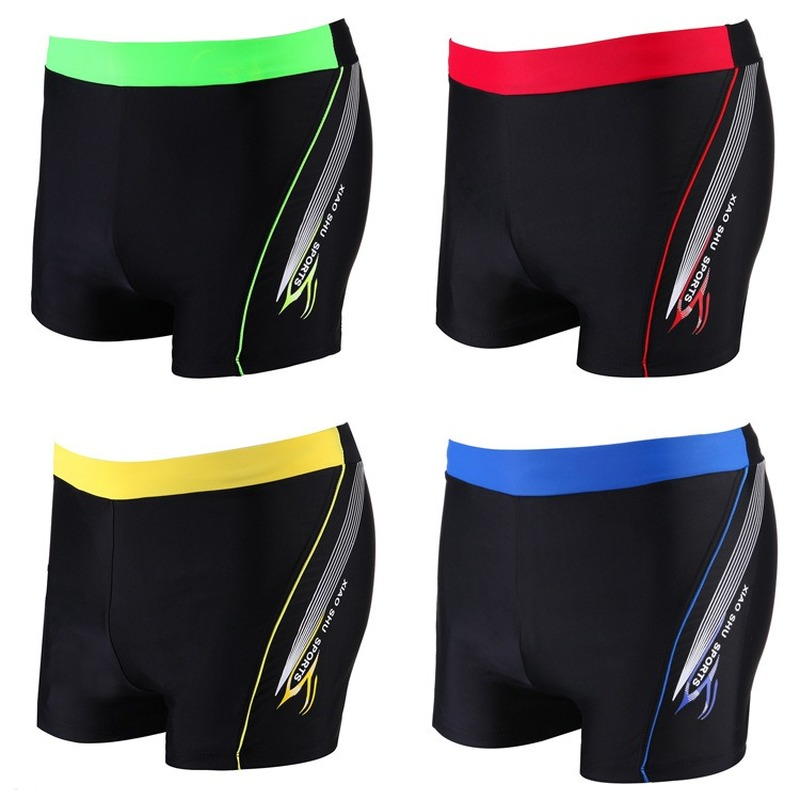 Boy Swimwear Quick Dry Swimming Trunks Yellow Red Blue Nylon Kid Children Shorts Super Elastic Swimsuit