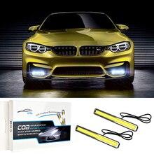 цена на Ultra Bright COB Daytime Running Lights Waterproof Auto Car DRL COB Driving Fog Lamp