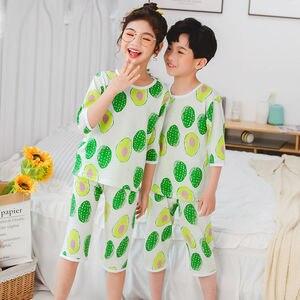 Chłopięce ubrania pół rękawa dziecięce piżamy dziecięce dziewczęce bawełniane zestaw bielizny nocnej letnie piżamy dziecięce dziecięce kreskówki strój na noc Homewear
