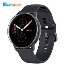 Microwear reloj inteligente SG2 para Android e IOS, reloj inteligente resistente al agua IP68 con pantalla táctil HD completamente y recordatorio de mensajes y llamadas, 2020