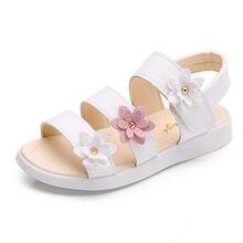 Sandales de gladiateur à fleurs pour filles, chaussures de princesse, jolies, douces, de haute qualité,