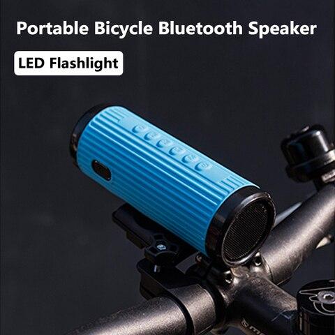 Coluna sem Fio ao ar Livres + Banco de Potência Montagem da Bicicleta Portátil Bicicleta Alto-falante Bluetooth Poderoso Livre Boombox Mãos Lanterna x3 Led