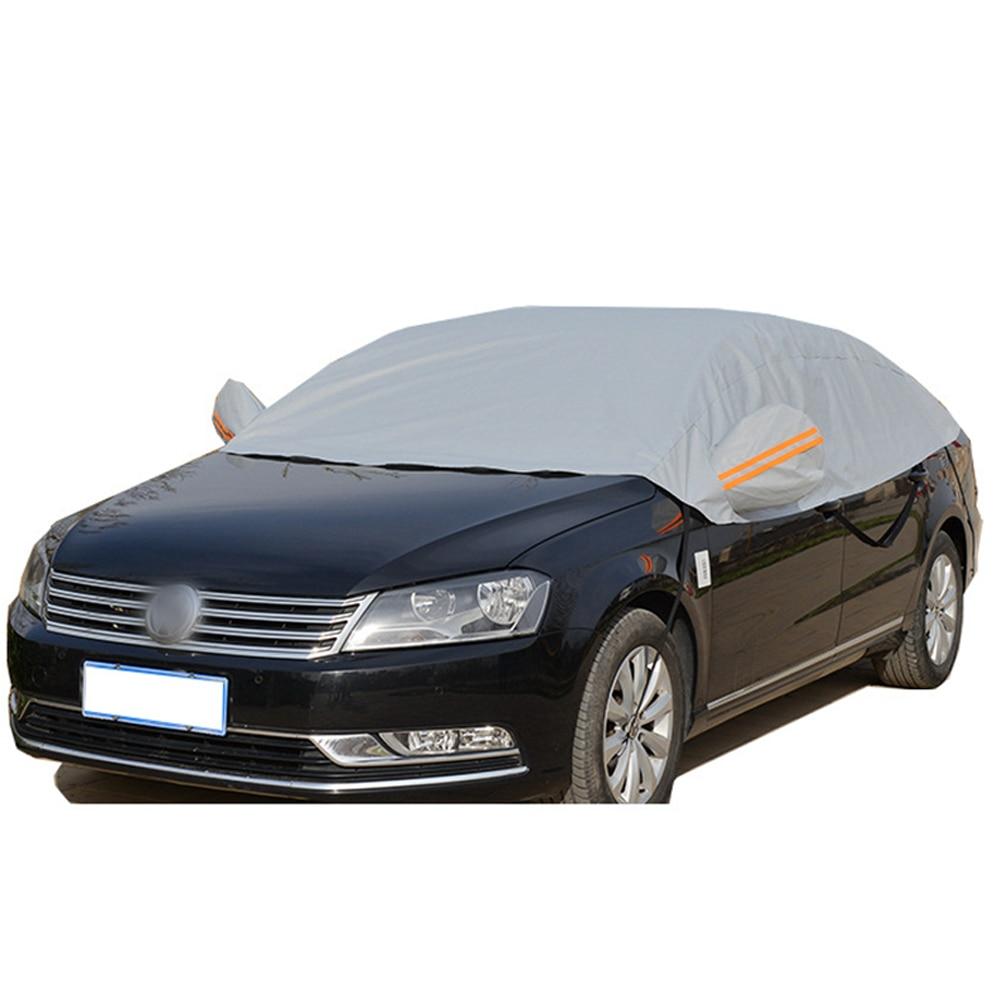 Half Car Cover Sun UV Snow Dust Rain Resistant Durable Covers 118cm x 90cm Automobile Accessories For Car Care