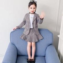 Jacket Schoolgirl Uniforms Costume Blazer Kids Fashion Clothing Skirt Plaid Sexy Japanese-Style