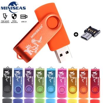 цена на Usb Flash Drive Miniseas Dragon Mini High Speed Pen Drive 4GB 8GB 16GB Memory cle Usb Stick 2.0 Pendrive 32GB 64GB