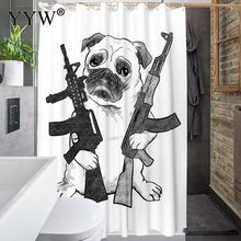 1 Pc Luxury Bath Shower Curtains Large Peva 3d Waterproof Curtain Cute Animal Screens White Clear Bathroom