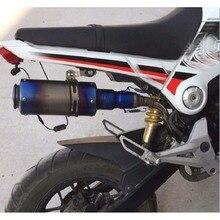 Motorfiets Volledige Systeem Uitlaat Midden Sluit Pijp Slip On Voor Honda Grom Msx 125 MSX125 2012 2013 2014 2015