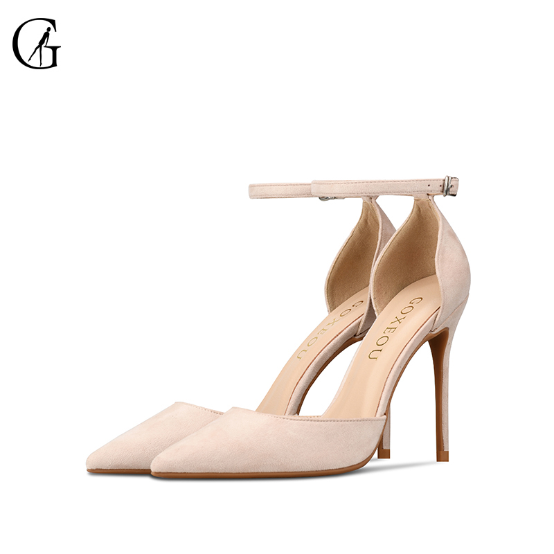 Fashion Womens Ladies Ankle Strap High Stiletto Heels Pointed Party Shoes