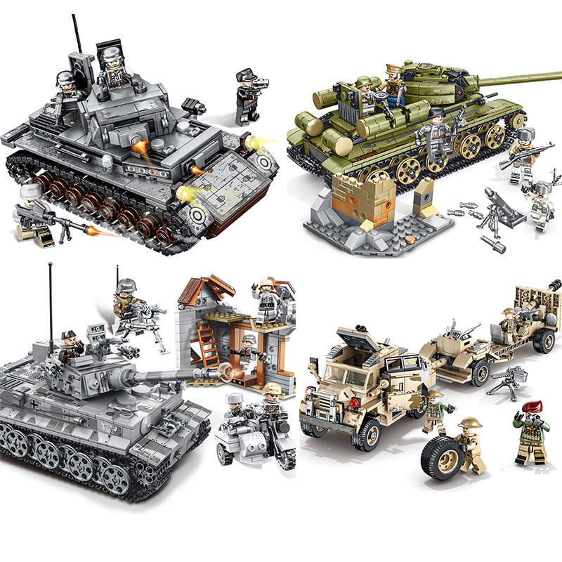 Empires Of Steel Theme Series Tank Builidng Block Creative Assemble Children Toys Compatible 101038 101322 101361 101401