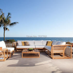 Furniture Garden-Sets Patio Outdoor Corner-Sofas Modern Teak Sunproof Leisure