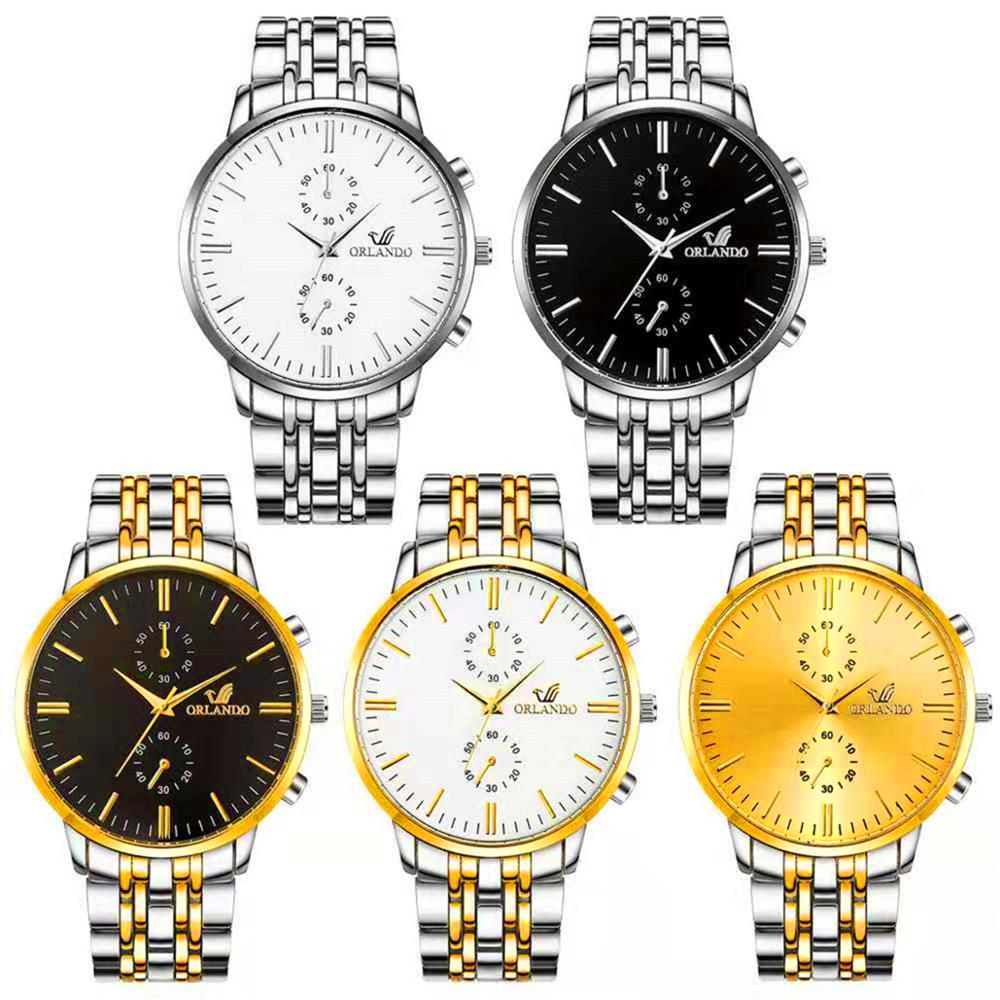 2019 Men Watches Top Brand Luxury Orlando Clock Stainless Steel Men's Watch Erkek Kol Saati Reloj Hombre Men's Wrist Watches Top