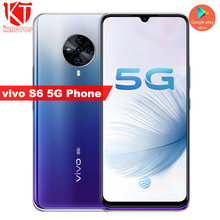 "Original vivo S6 5G mobile phone 8G 128G 6.44"" Exynos 980 Octa core 4500mAh 18W Fast Charger 48MP+32MP Cameras Android 10 phone(China)"