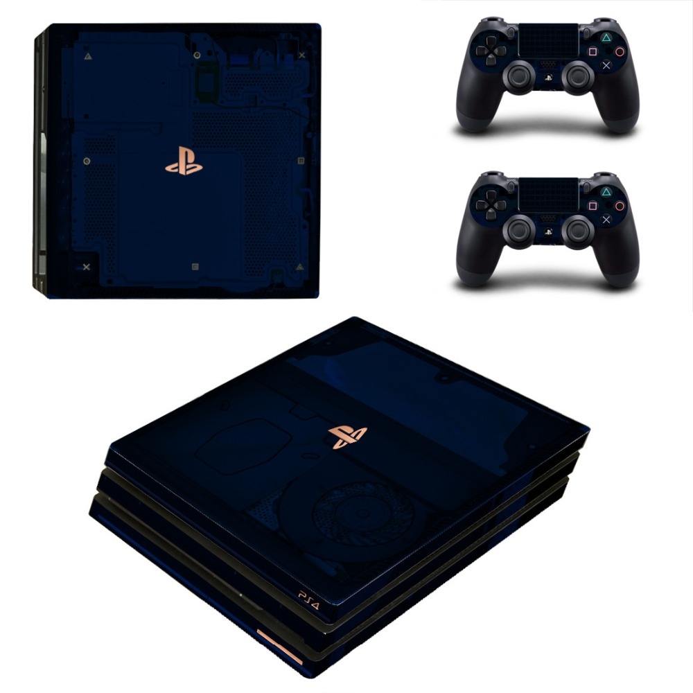 <font><b>500</b></font> Million Limited Edition PS4 Pro Skin Sticker Decal Vinyl for Playstation 4 Console and <font><b>2</b></font> Controllers PS4 Pro Skin Stickers image