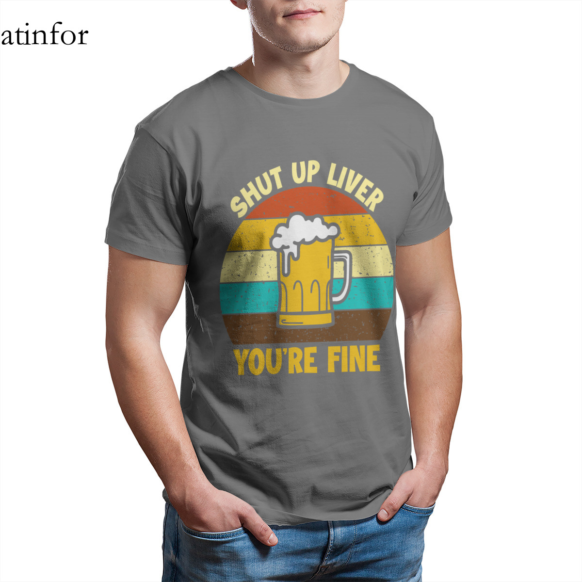 shut up liver your fine T-Shirt 100% Cotton Punk Anime Christmas  Couples Punk Gothic Style Red Short Sleeve Cool Tshirts 27335
